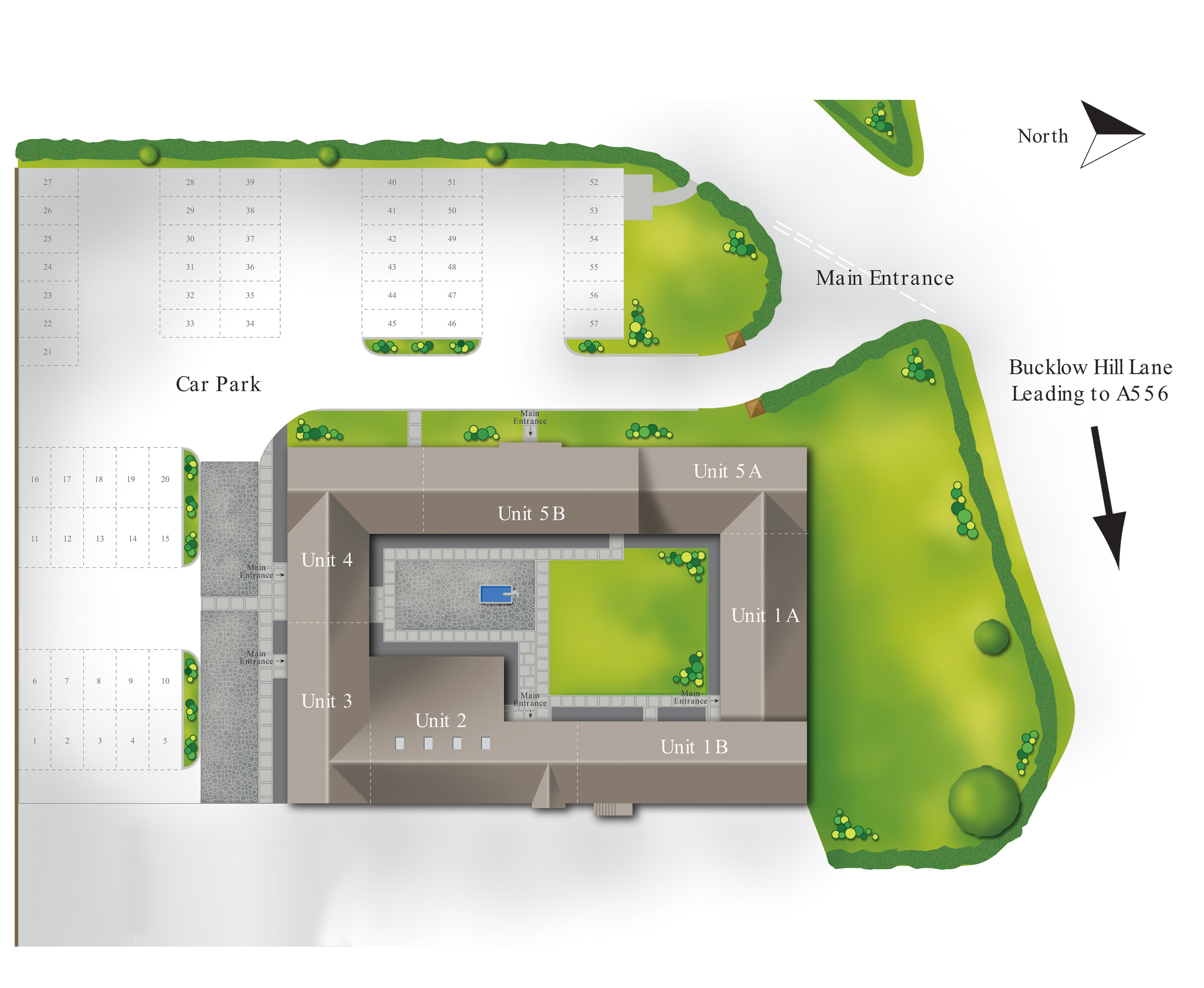 Mere Hall Farm Offices Plan